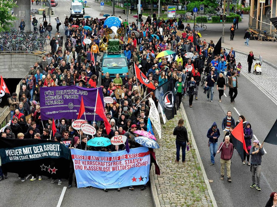 Demonstration in Freiburg am 1. Mai  | Foto: Thomas Kunz