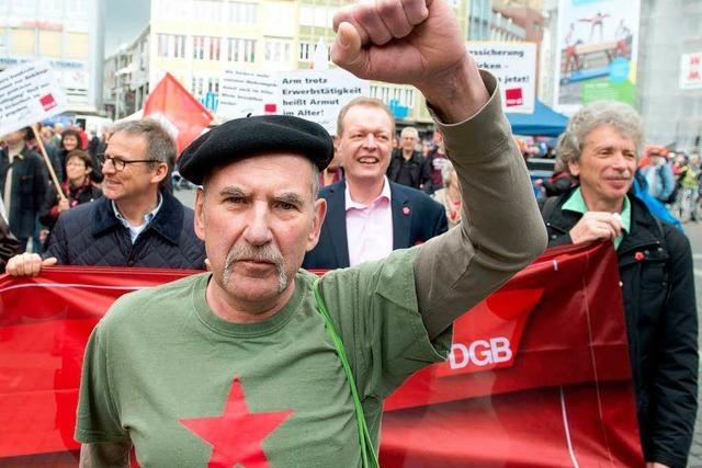 Tag der Arbeit: Demos für den Mindestlohn
