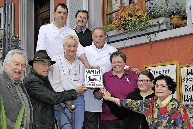 Oberrotweiler Gasthaus Bären erhält Gütesiegel des Landesjagdverbandes