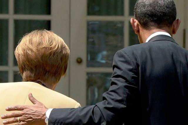 Merkel und Obama fordern Moskau zum Einlenken auf