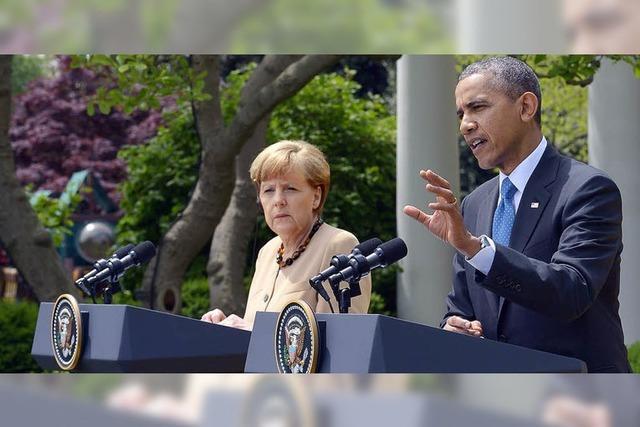 Merkel und Obama zeigen Einigkeit
