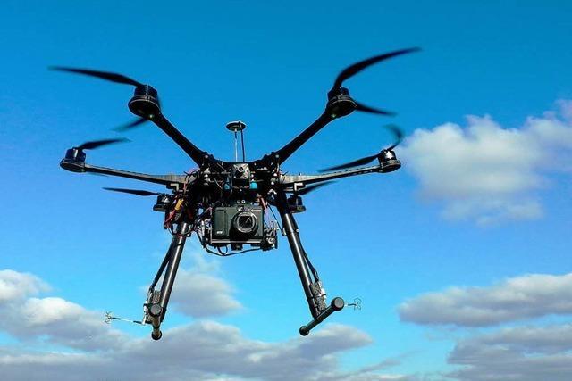 Drohne liefert spektakuläre Ansichten von Staufen
