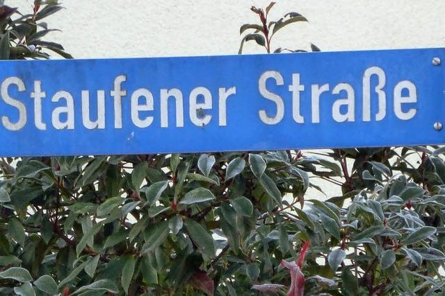 Vollsperrung der Staufener Straße