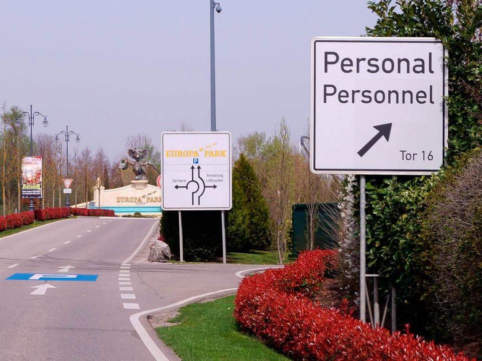 Für Personal – bitte hier entlang.     Foto: Max Selinger