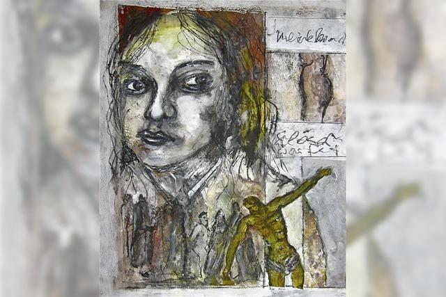 Edgar Piels Malerei: Rückgriffe auf christliche Ikonografie
