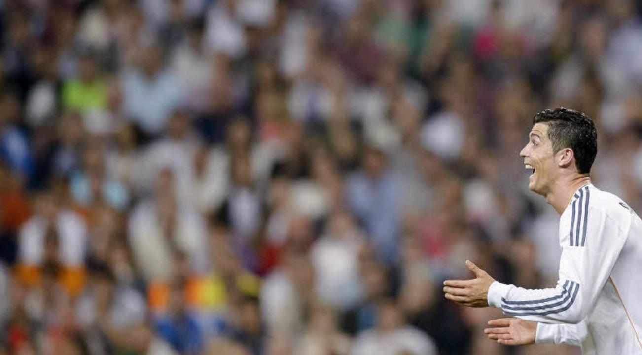 Begeistert Millionen: Cristiano Ronaldo im Madrider Santiago Bernabeu Stadion.    | Foto: Eu 2014  (European Parliament)/AFP