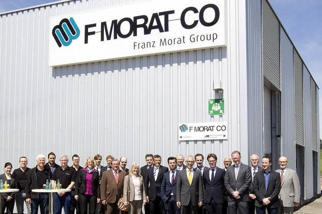 F.Morat & Co. hat seinen Erweiterungsbau in Pfaffenweiler eingeweiht