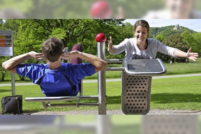 Fitnessstudio im Freien