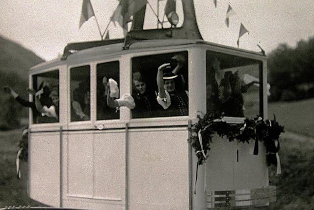 Historischer Film: Fahrt mit der Schauinslandbahn im Jahr 1932