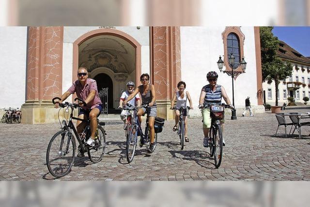 Radfahrer sind auf dem richtigen Weg