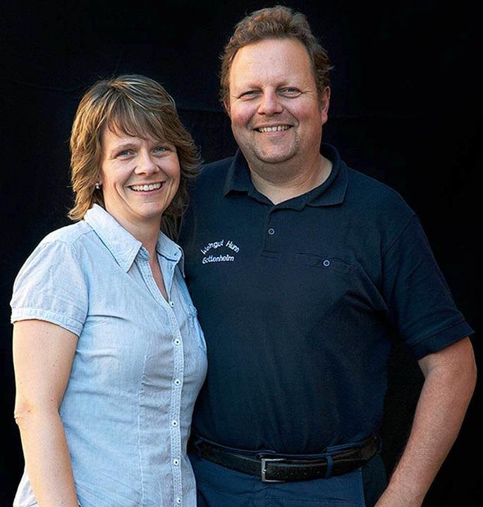 Martina und Kilian Hunn  aus Gottenheim  | Foto: Michael Wissing