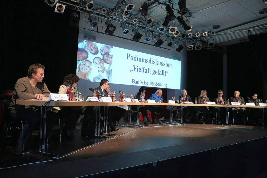 Das BZ-Podium mit Vertretern der Parteien  | Foto: Christoph Breithaupt, Christoph Breithaupt