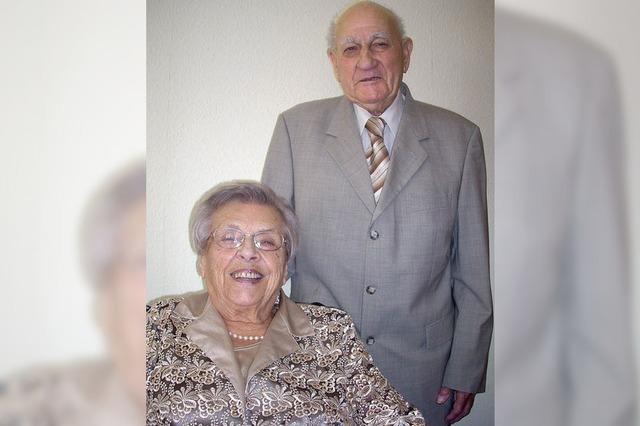 Seit 65 Jahren sind sie ein Ehepaar