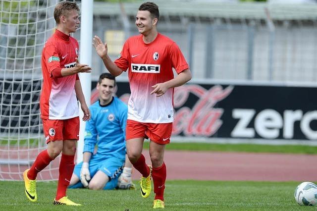 SC-A-Junioren bleiben nach 11:0-Sieg über Burghausen erstklassig