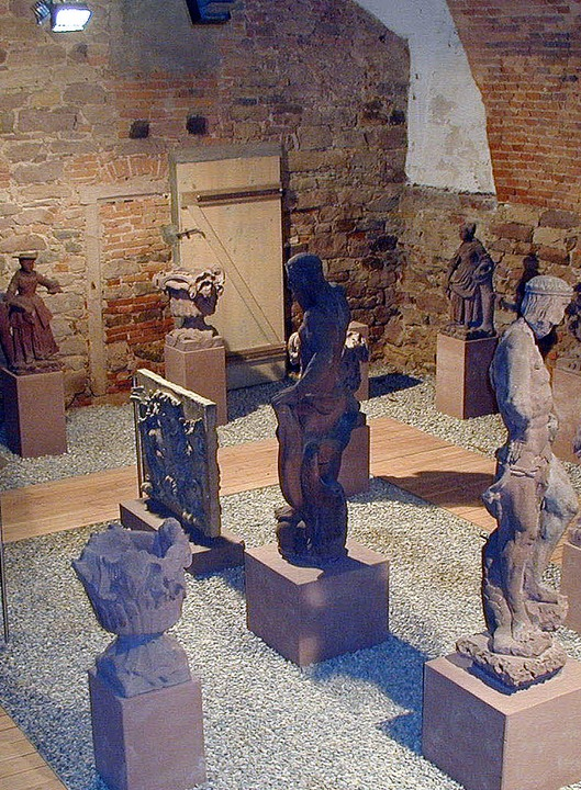 Das Lapidarium: Sammlung von Steinfiguren.   | Foto: Karl Schlessmann