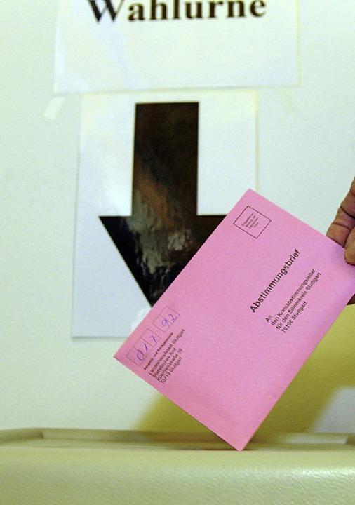Volksabstimmung     Foto: dpa