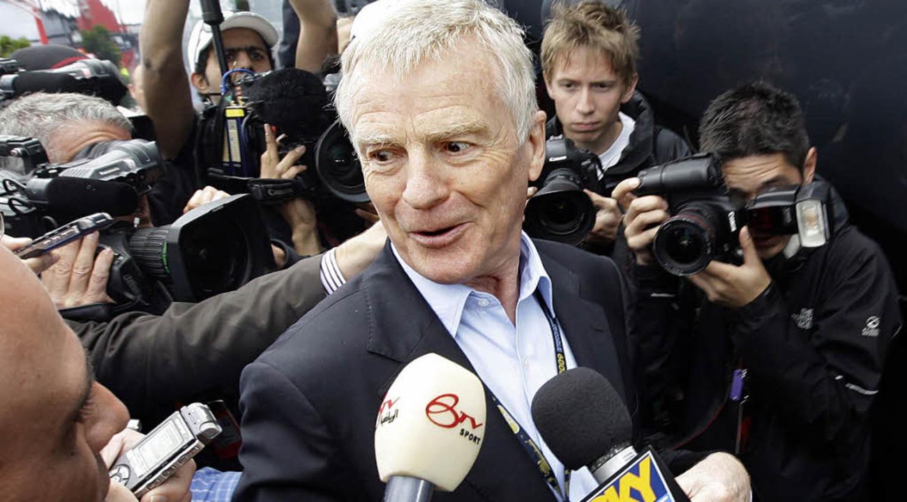 Der frühere Formel-1-Chef Max Mosley  | Foto: AFP