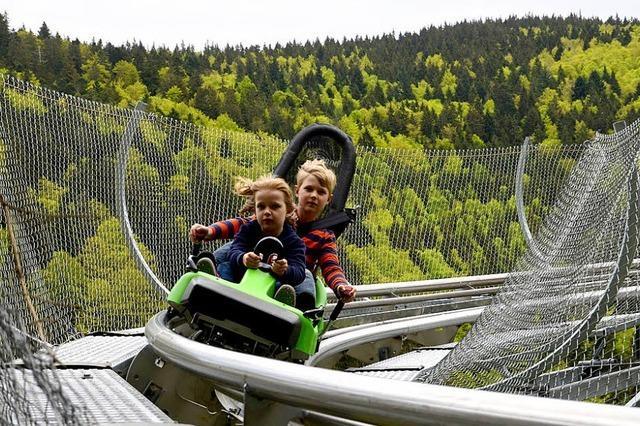Neue Attraktion im Steinwasenpark: Mit Karacho in die Kurve