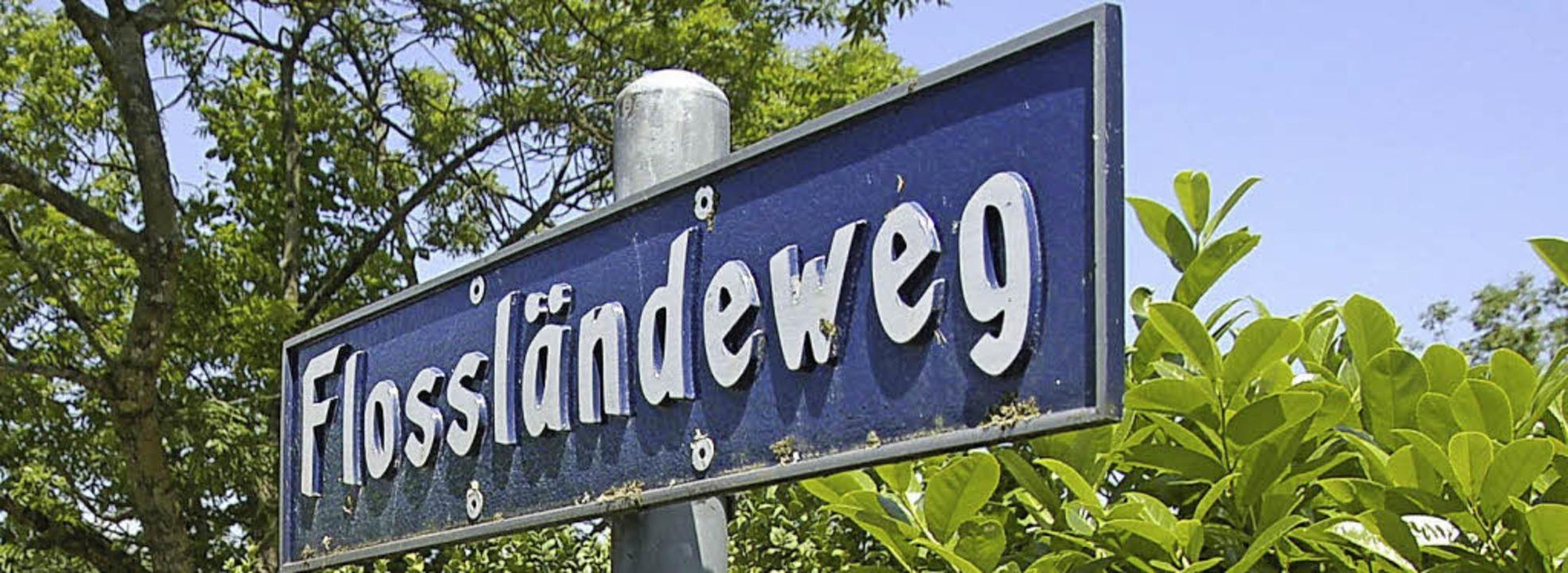 Am Flossländeweg soll der neue Steg über den Rhein gebaut werden.   | Foto: Ralf Staub