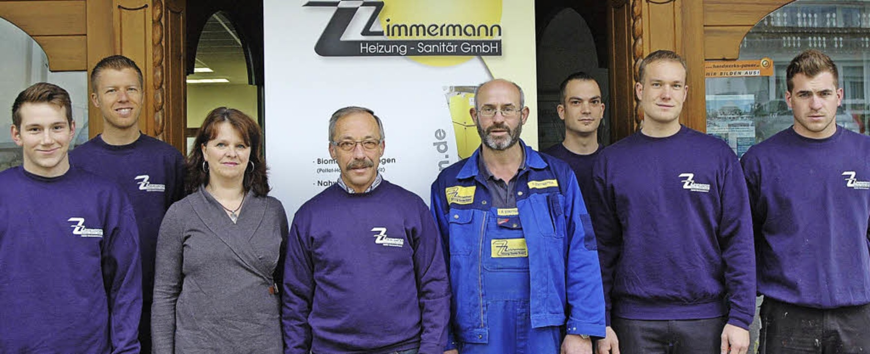 Das Zimmermann-Team (von links): Marti...ian März, Kim Kaiser und Jens Karthan   | Foto: Stefan Sahli