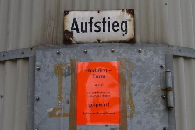 Neustadts Hochfirstturm ist gesperrt