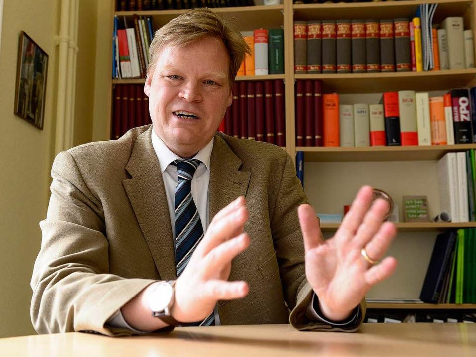 Harald Egerer im Gespräch  | Foto: Fotos: Ingo schneider