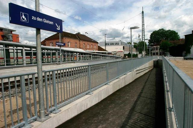 Emmendinger Bahnhof nach Umbau eröffnet