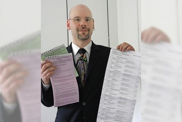 Stimmzettel werden diesmal elektronisch erfasst