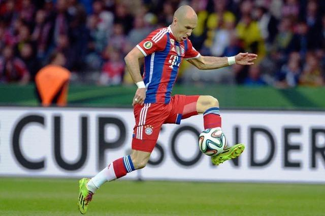 2:0 gegen BVB: Bayern dank Final-Held Robben Pokalsieger