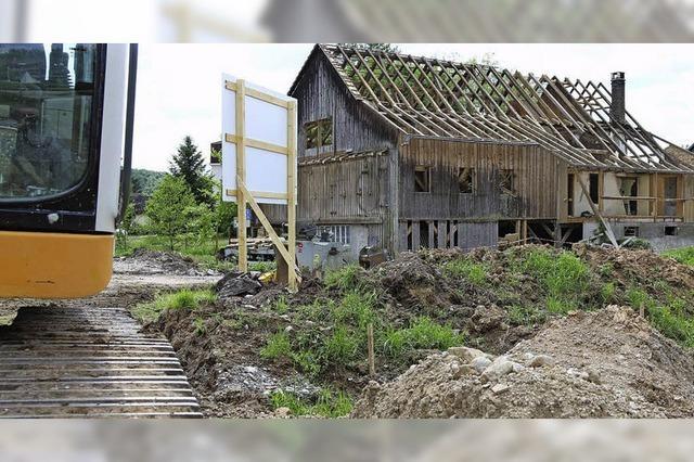 Der Gretherhof wird abgetragen