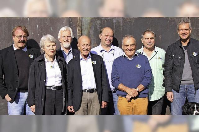 Kreistagskandidaten der Unabhängigen