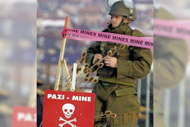 Hochwasser auf dem Balkan könnte Landminen freispülen