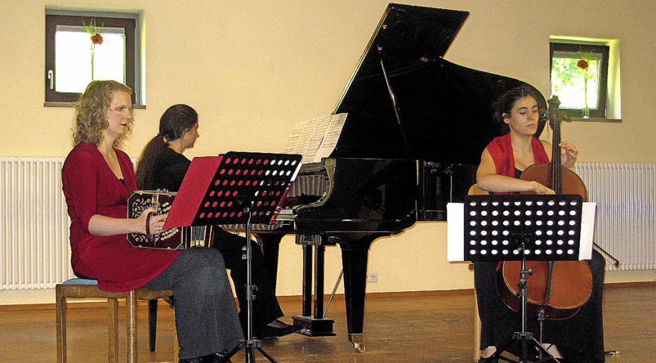 Das Trio Tinta Roja spielte Ástor Piazzolas Tango nuevo.   | Foto: H. Karig