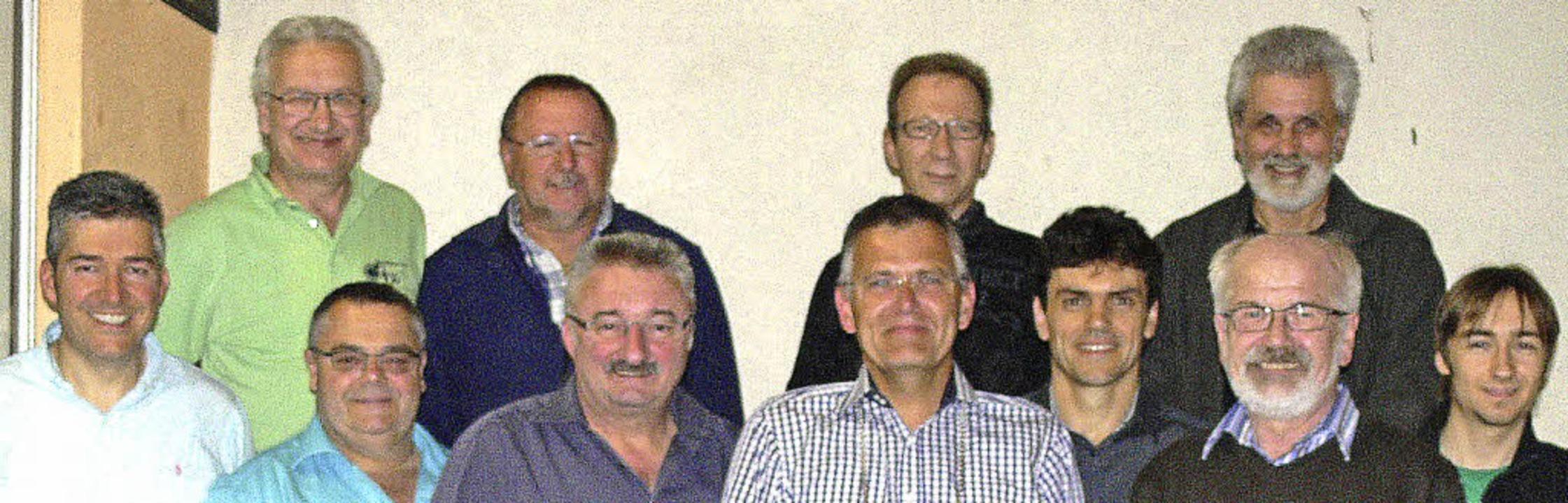 Der neue Vorstand des fusionierten Kre...Hurst, Peter Matsander und Eric Kempf   | Foto: dieter fink