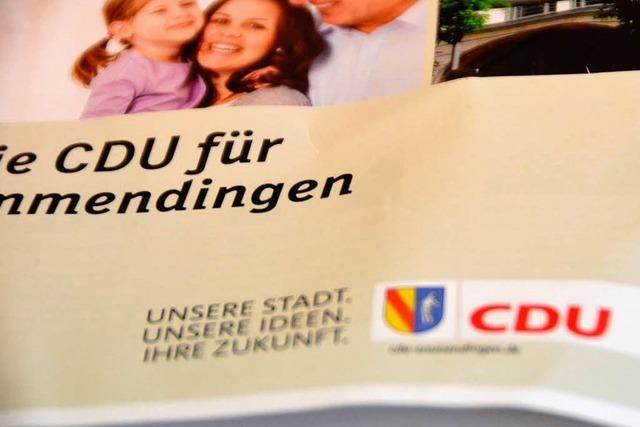 Emmendinger CDU muss Stadtwappen auf Wahlwerbung überkleben