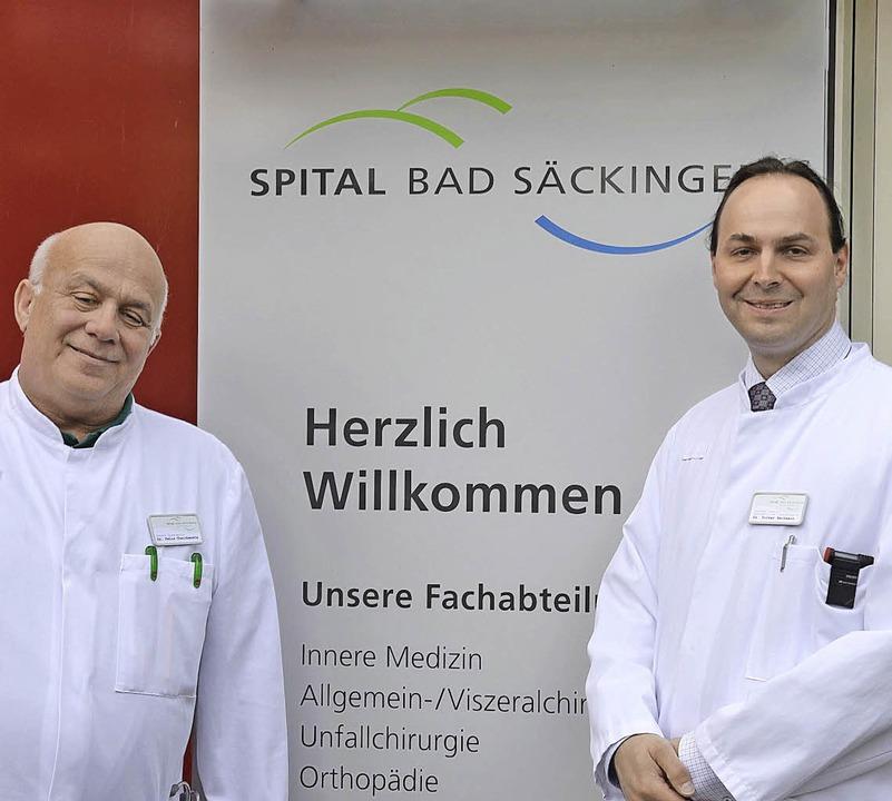 Die neuen Oberärzte Felix Chaichenets und  Volker Bechmann (von links)     Foto: Spital BaD Säckingen