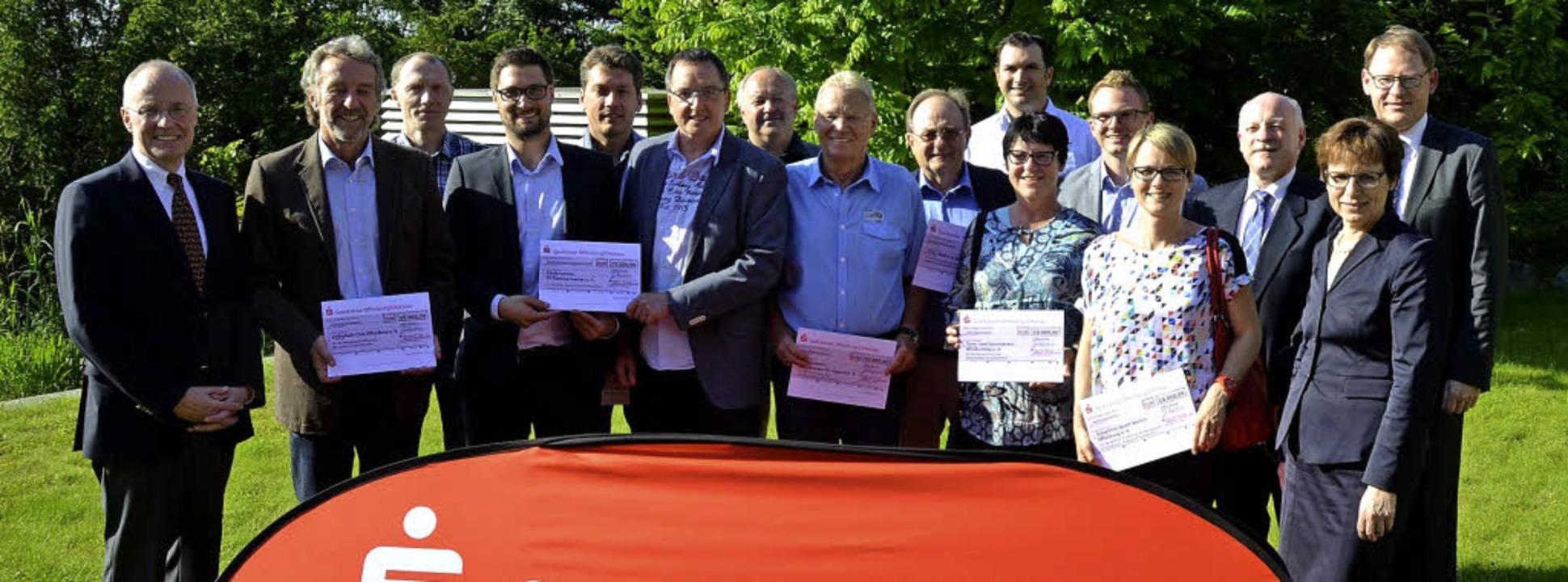 Spendenübergabe der Regionalstiftung d...rg/Ortenau an Offenburger Sportvereine    Foto: Burgmaier Ralf