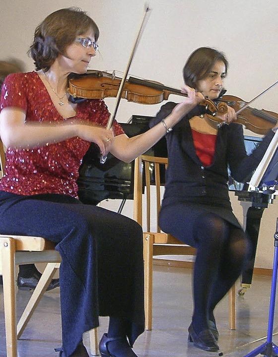 Brigitte Schnabel (links) und Tamara Russo     Foto: Roswitha Frey