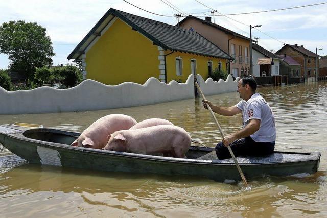Balkanländer erwarten neue Flutwelle