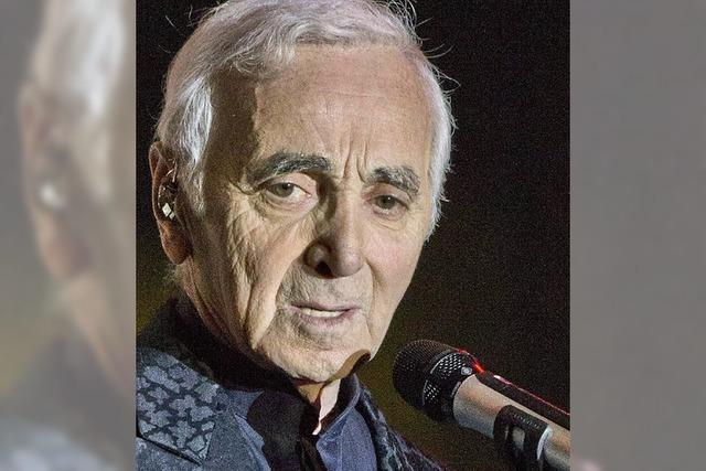 Charles Aznavour wird 90: Mit dem Timbre von Rost und Sand