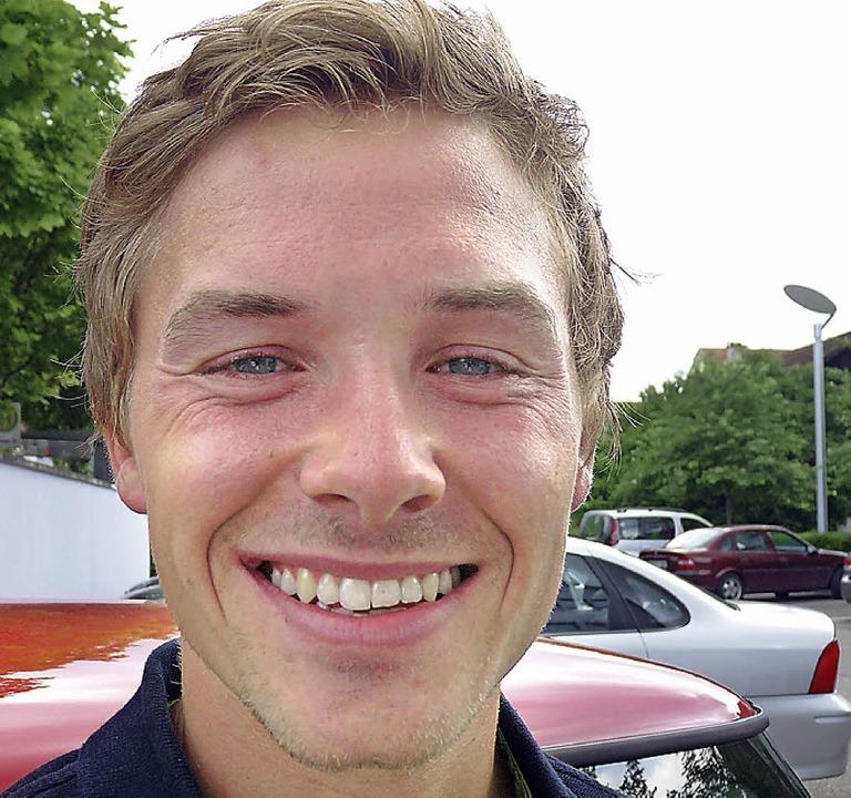 Immer bereit für einen Mittagsschlaf: Fabian Rießle als Sommer-Zivilist  | Foto: bachmann