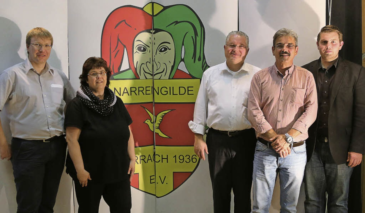 Im Amt bestätigt (v. links): Thorsten ... Michael Lindemer (Zeremonienmeister).    Foto: Katharina Bartsch