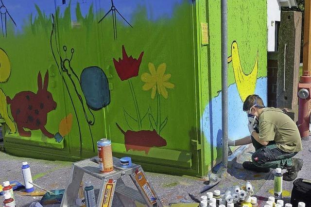 Graffiti statt tristem Grau