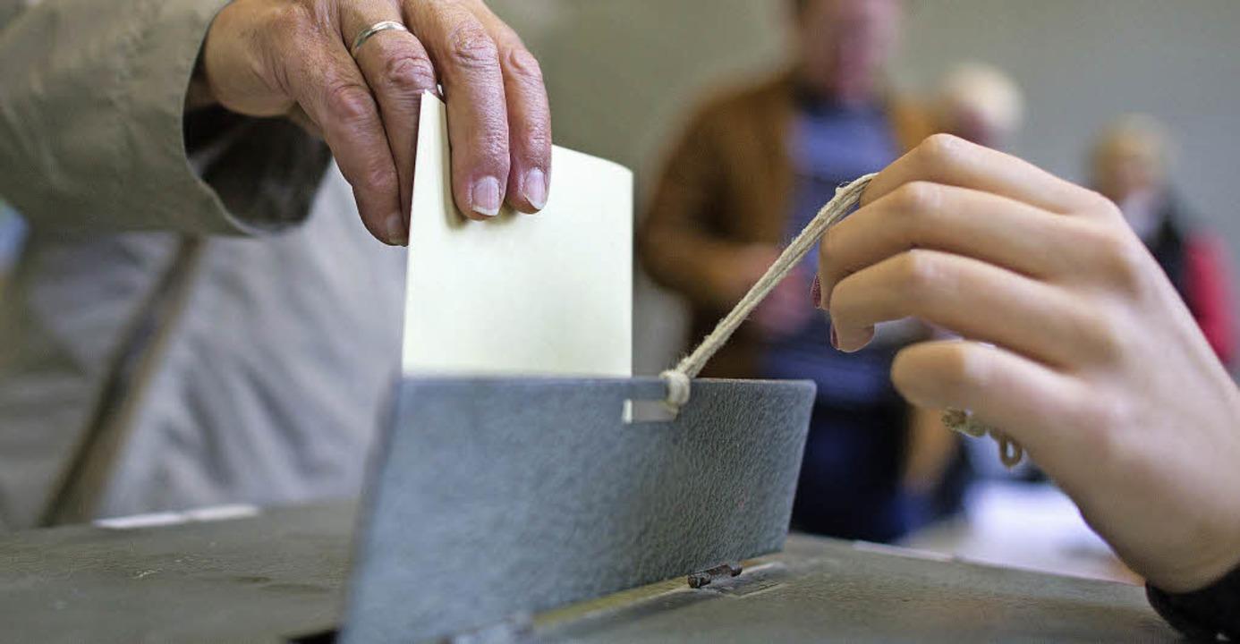 Knapp 5500 Wahlberechtigte könnten am ...ags- und die Gemeinderatswahl abgeben.    Foto: dpa
