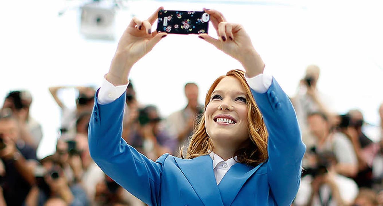 Analysiert: Me & my selfie    Foto: AFP