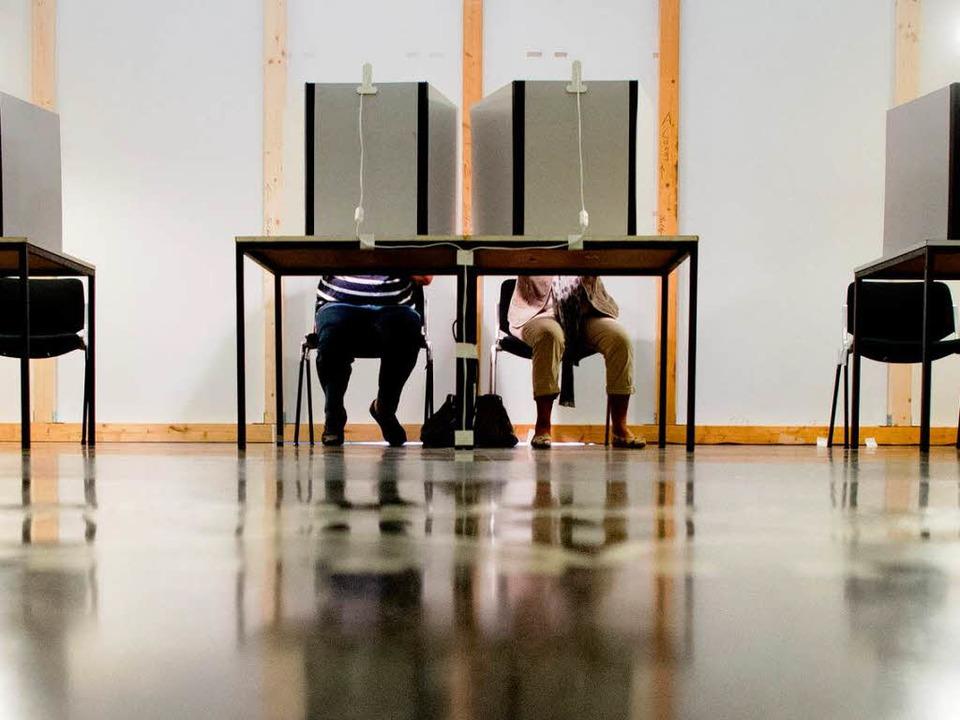 Beim Wählen immer auch zählen    Foto: dpa