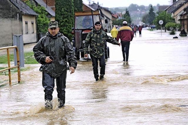 Dörfer stehen unter Wasser