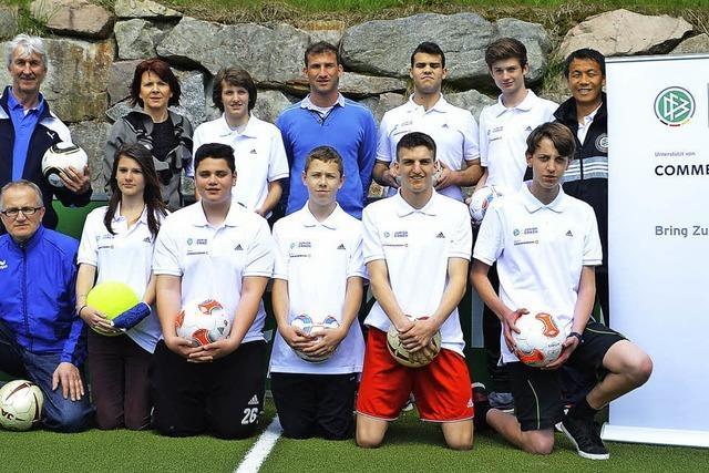 Realschüler bei den ersten DFB-Junior-Coaches
