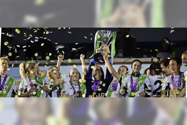 Die Frauen des VfL Wolfsburg gewinnen Champions League Finale