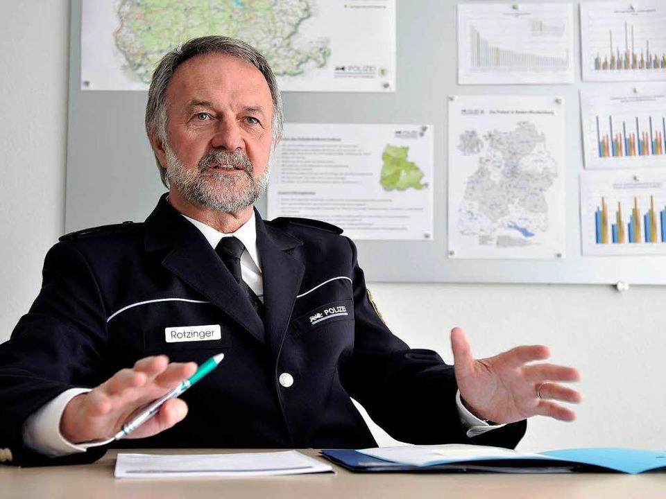 Null Toleranz? Ist nichts für  unser L... – findet Polizeichef Rotzinger   | Foto: Thomas Kunz